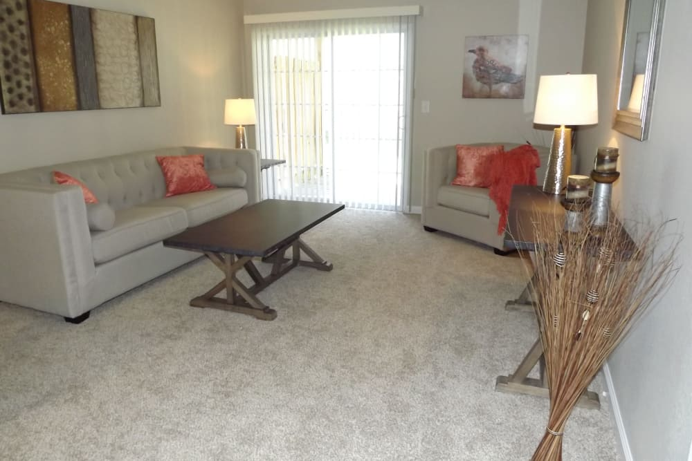 Living room at Jackson Grove Apartment Homes in Hermitage, Tennessee