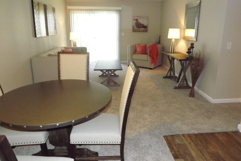 Dining room at Jackson Grove Apartment Homes in Hermitage, Tennessee