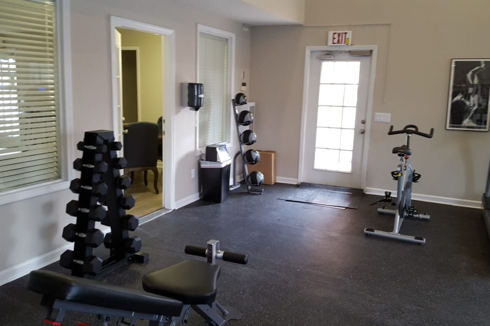 Fitness center at Sheffield Heights Apartment Homes in Nashville, Tennessee