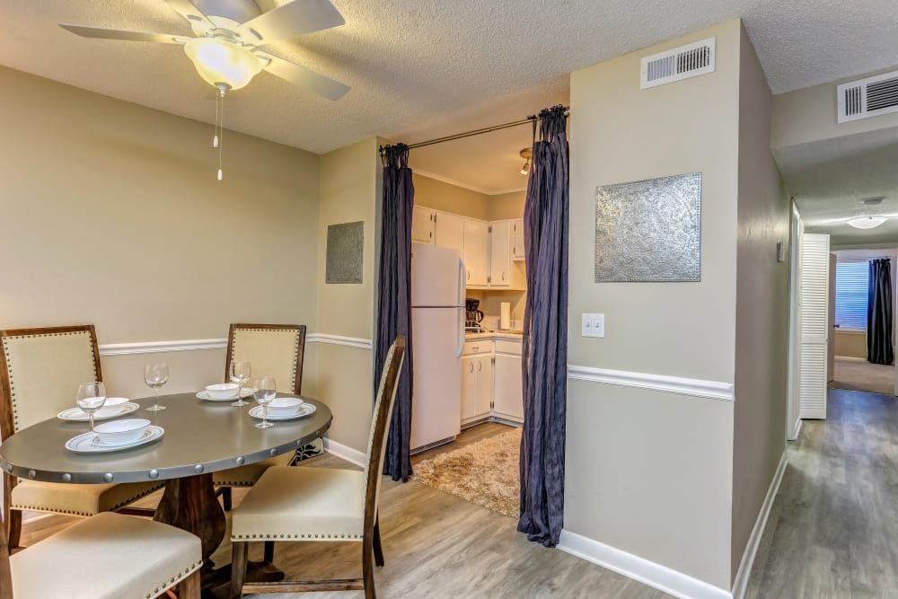 Beautiful dining room at Sheffield Heights Apartment Homes in Nashville, Tennessee