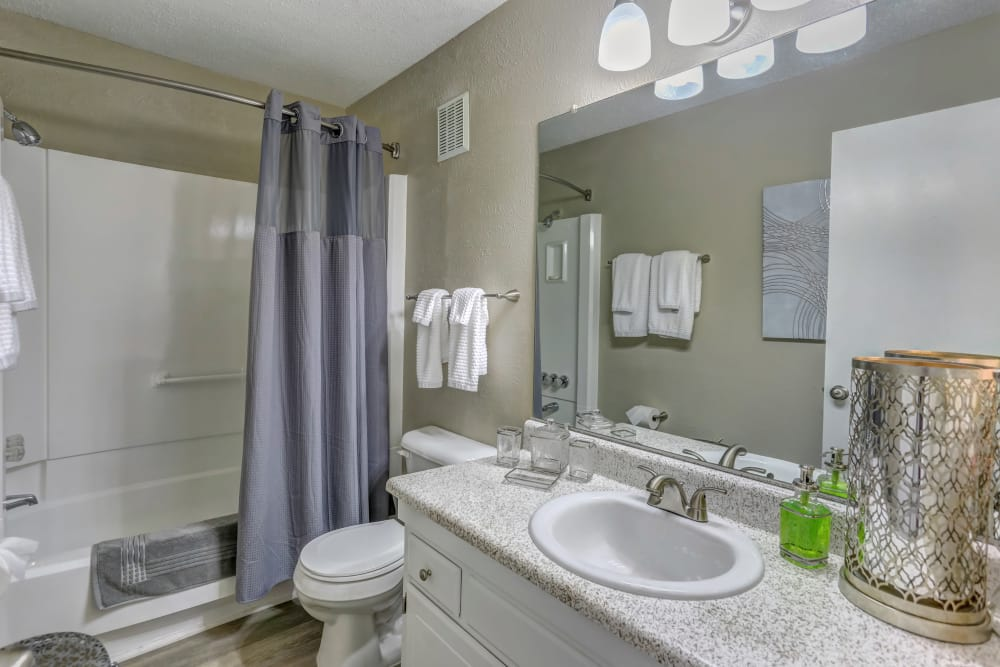 Bathroom at Sheffield Heights Apartment Homes in Nashville, Tennessee