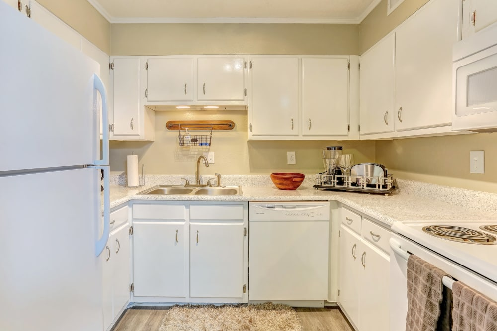 New renovated kitchen at Sheffield Heights Apartment Homes in Nashville, Tennessee
