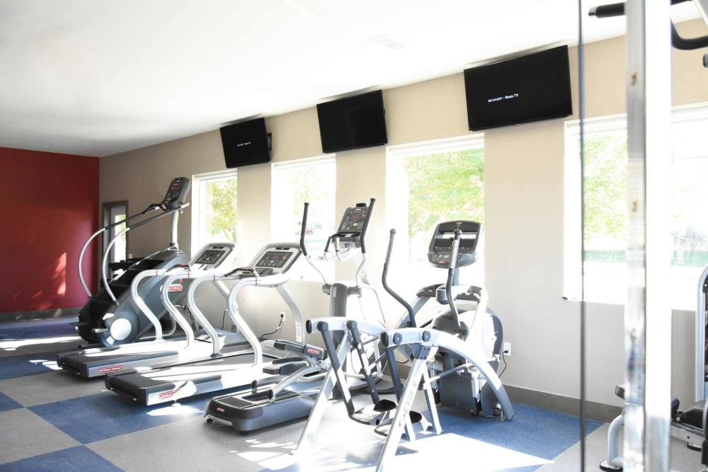 On-site gym for residents at Reserve at Kirkwood in Cedar Rapids, Iowa