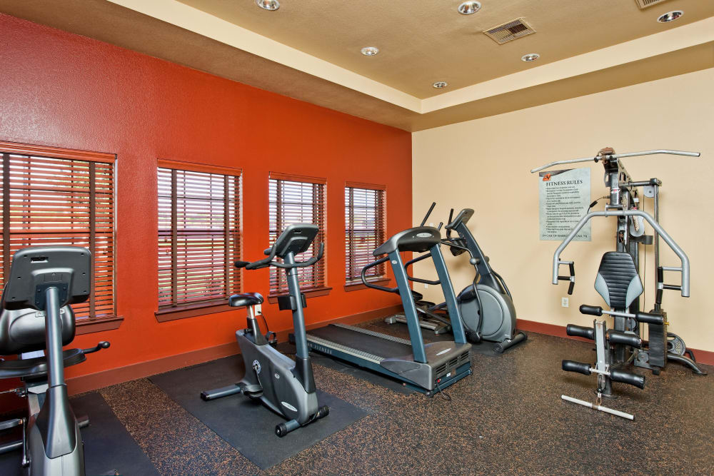 Fitness center at Springmarc Apartments in San Marcos, Texas