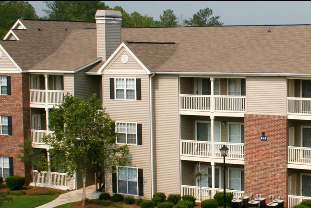 Aerial view of apartments in Stockbridge, Georgia