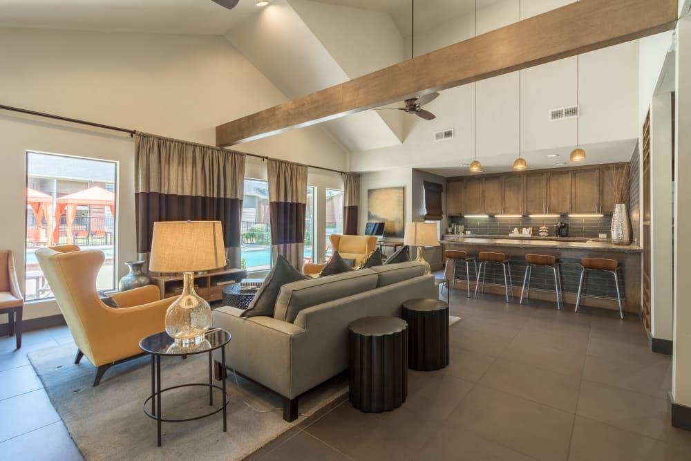 Spacious clubhouse at Presidio Apartments in Allen, Texas