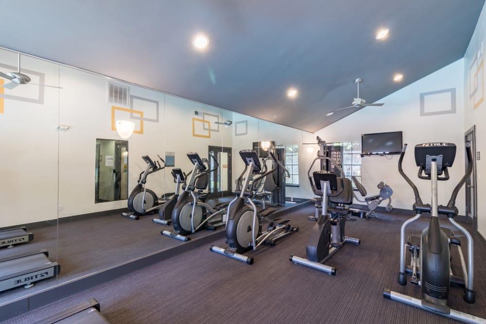 Fitness center at Presidio Apartments in Allen, Texas