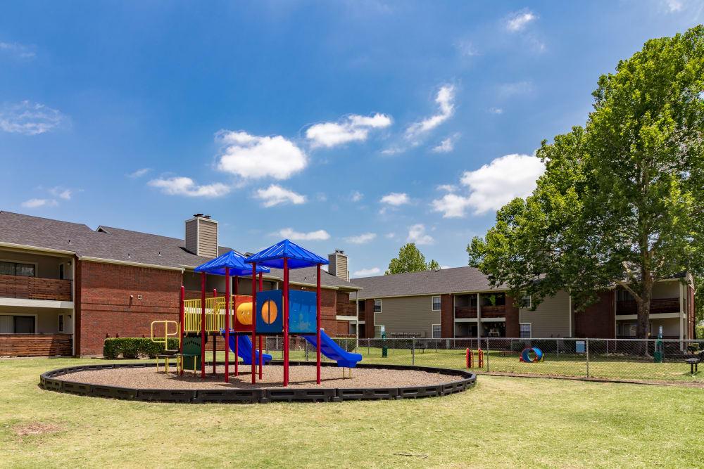 Outdoor playground at Presidio Apartments in Allen, Texas