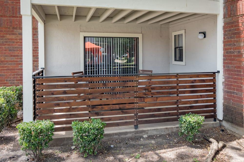 Sliding glass door to back patio at Presidio Apartments in Allen, Texas