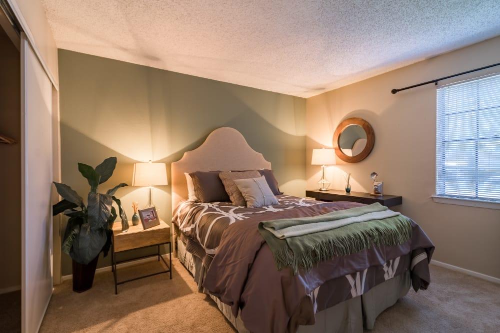 Master bedroom at Presidio Apartments in Allen, Texas
