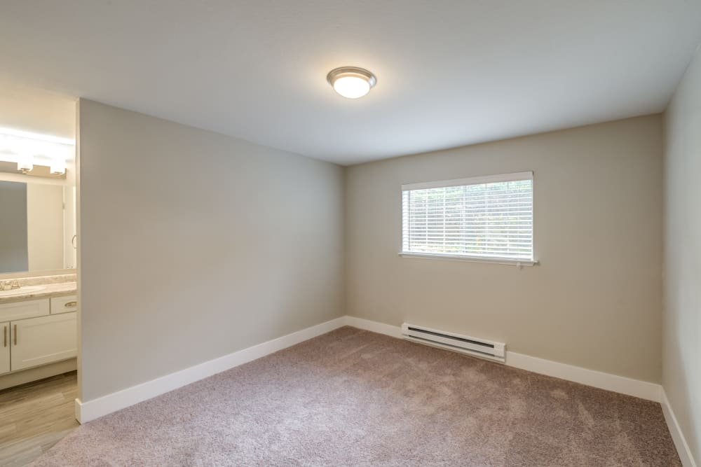Spacious master bedroom at Chestnut Hills Apartments
