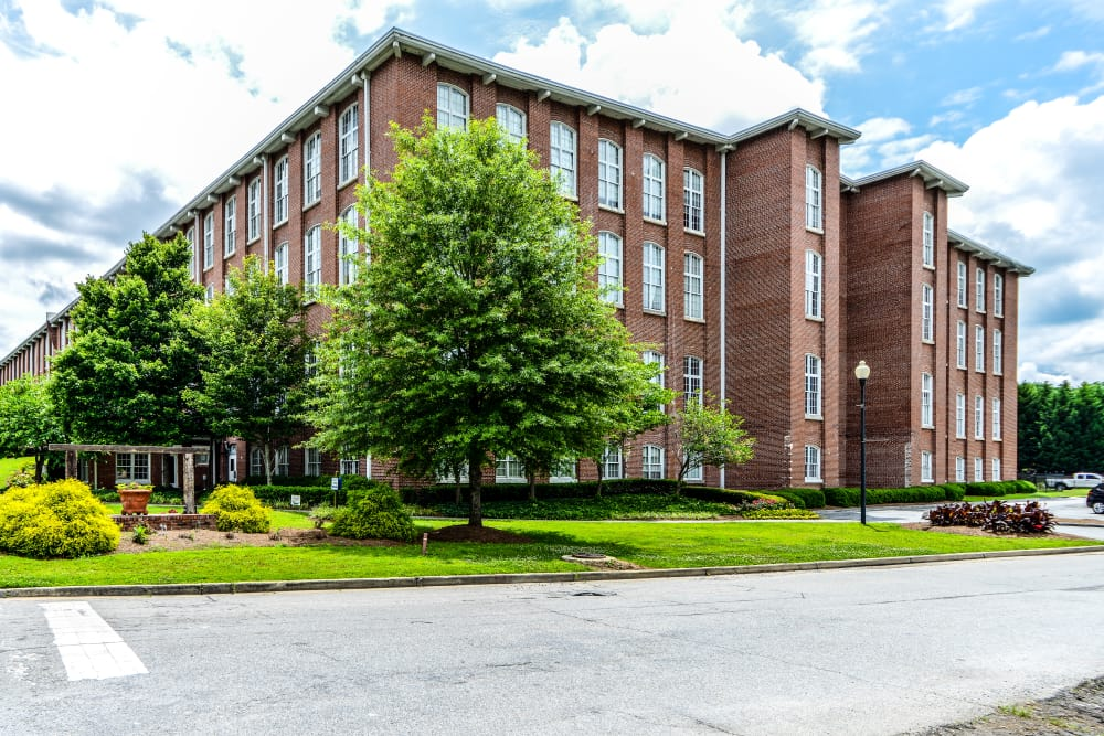 Exterior of Canton Mill Lofts in Canton, Georgia