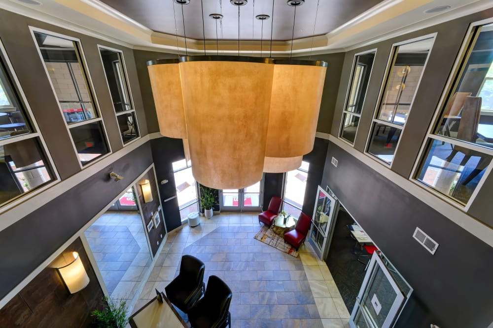 Lobby area at 401 Oberlin in Raleigh, North Carolina