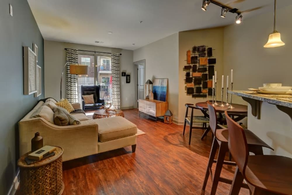 Beautiful spacious living room at 401 Oberlin in Raleigh, North Carolina