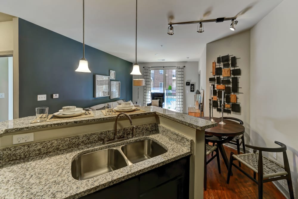 Beautiful kitchen sink at 401 Oberlin in Raleigh, North Carolina