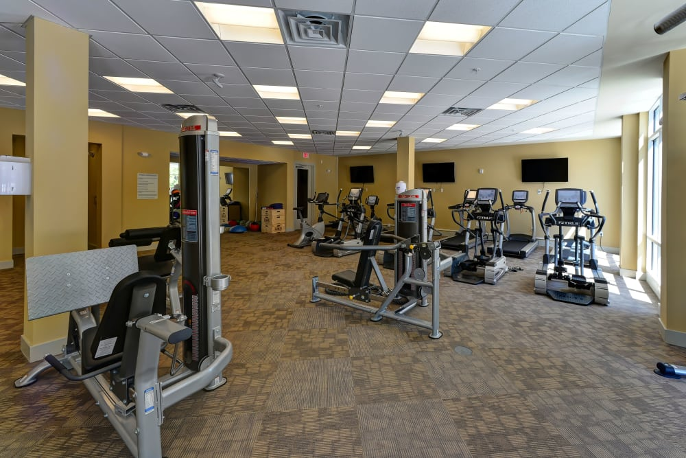 State-of-the-art fitness center at 401 Oberlin in Raleigh, North Carolina