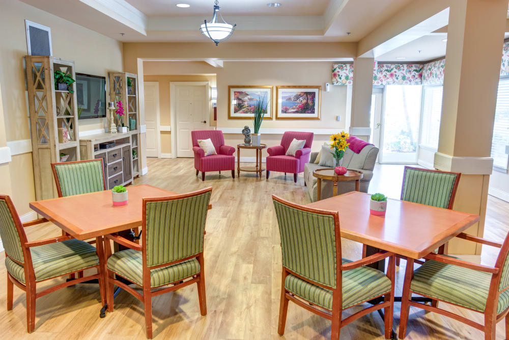 Resident Bistro at The Lynmoore at Lawnwood Assisted Living and Memory Care in Fort Pierce, Florida.