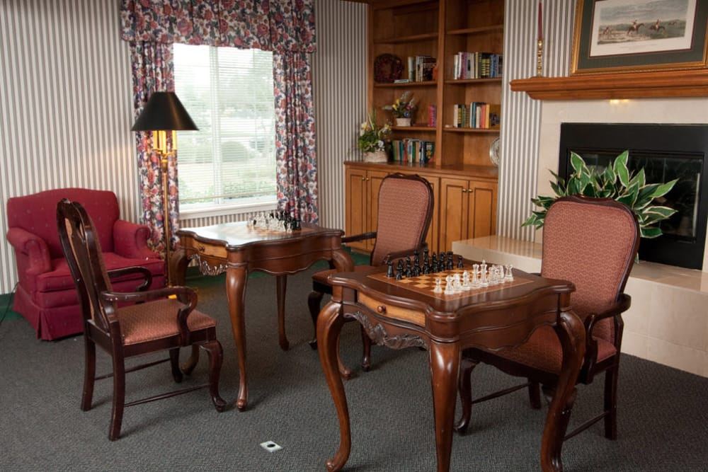 Enjoy a game of chess at Sandpiper Courtyard in Mt. Pleasant
