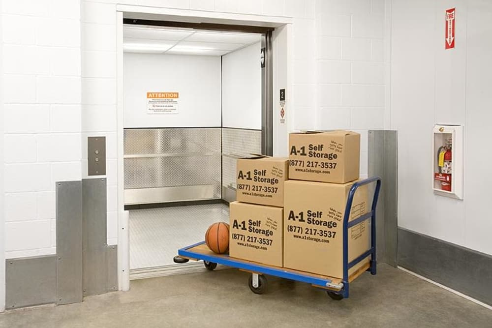 Boxes at A-1 Self Storage in National City, California
