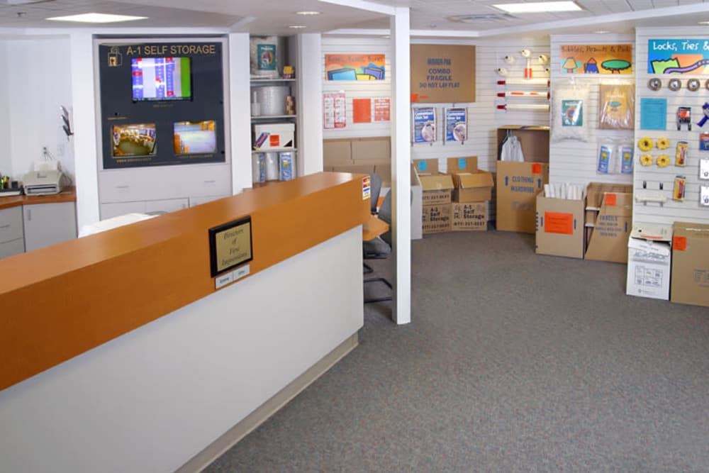 Our office at A-1 Self Storage in National City, California