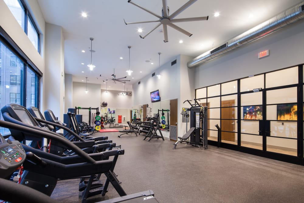 Fitness center at The Paramount at South Market in New Orleans, Louisiana