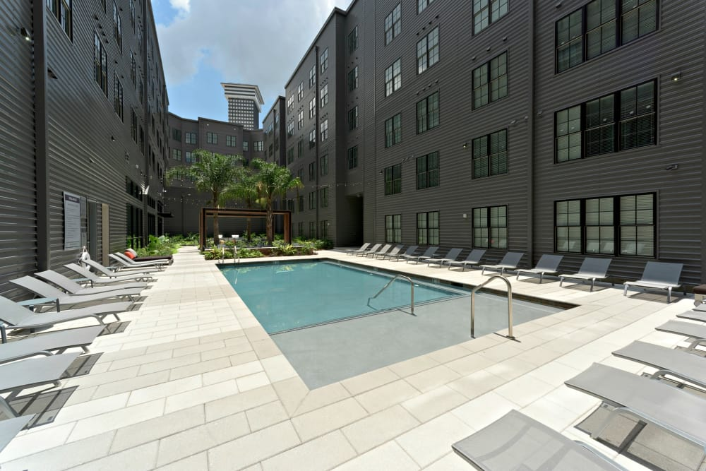 Swimming pool at The Paramount at South Market in New Orleans, Louisiana