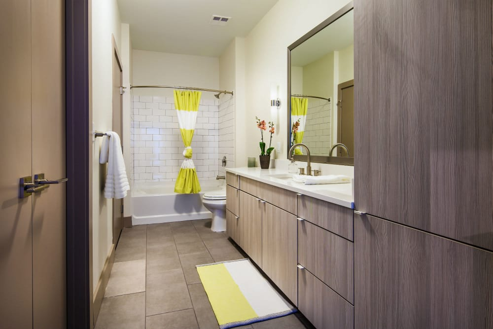 Spacious bathroom at The Paramount at South Market in New Orleans, Louisiana
