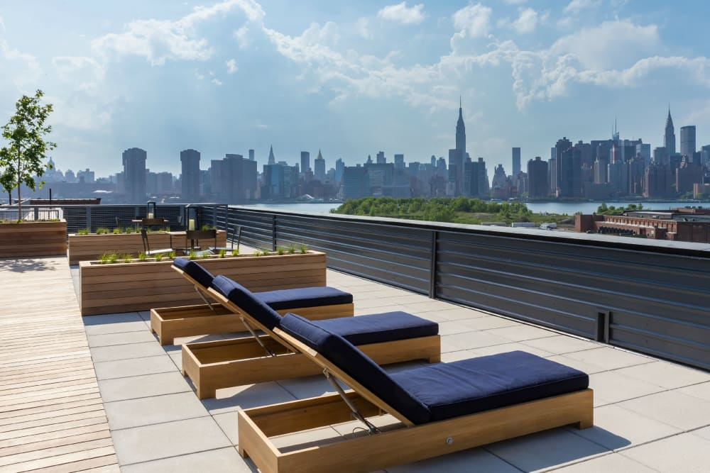 Rooftop patio at Eleven33 in Brooklyn, New York