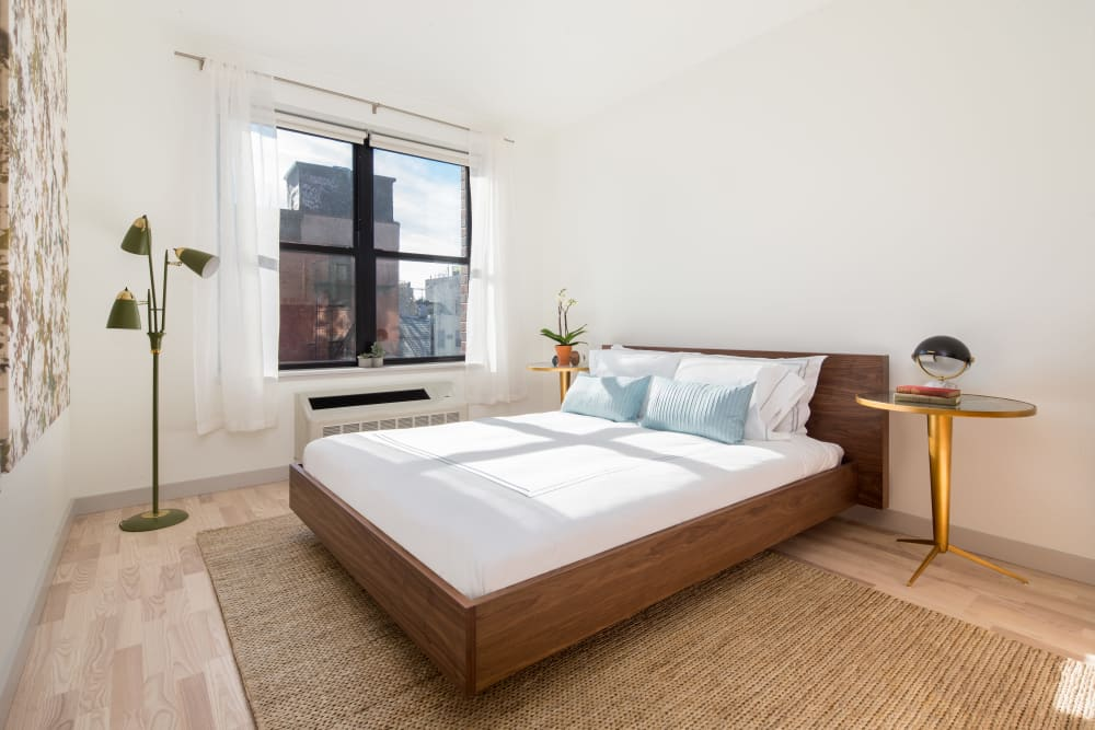 Bedroom at Eleven33 in Brooklyn, New York