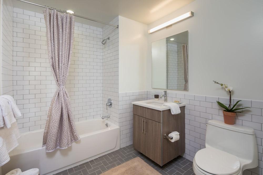 Bathroom at Eleven33 in Brooklyn, New York