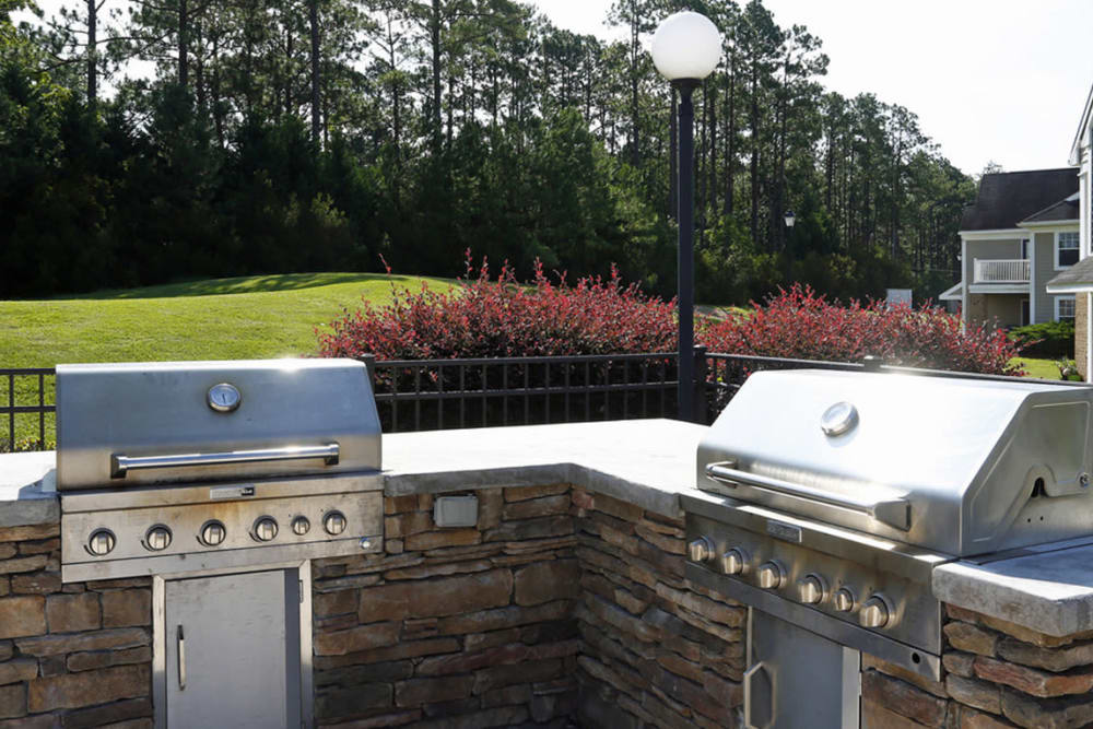 BBQ area at Park at Clearwater in Aberdeen, North Carolina