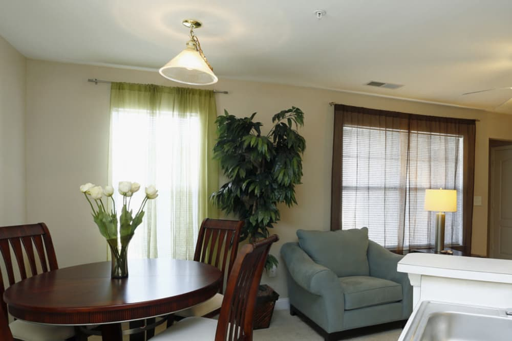 Living room at Park at Clearwater in Aberdeen, North Carolina