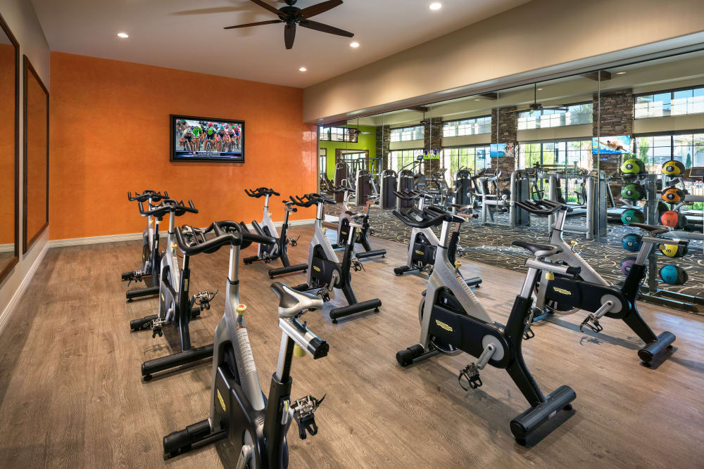 Onsite fitness center at San Travesia in Scottsdale, Arizona
