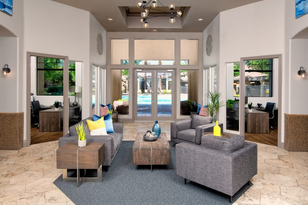 Clubhouse lobby at Broadstone Desert Sky in Phoenix, Arizona