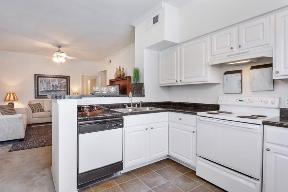 Plantation Apartments offers a kitchen in Gulfport, Mississippi
