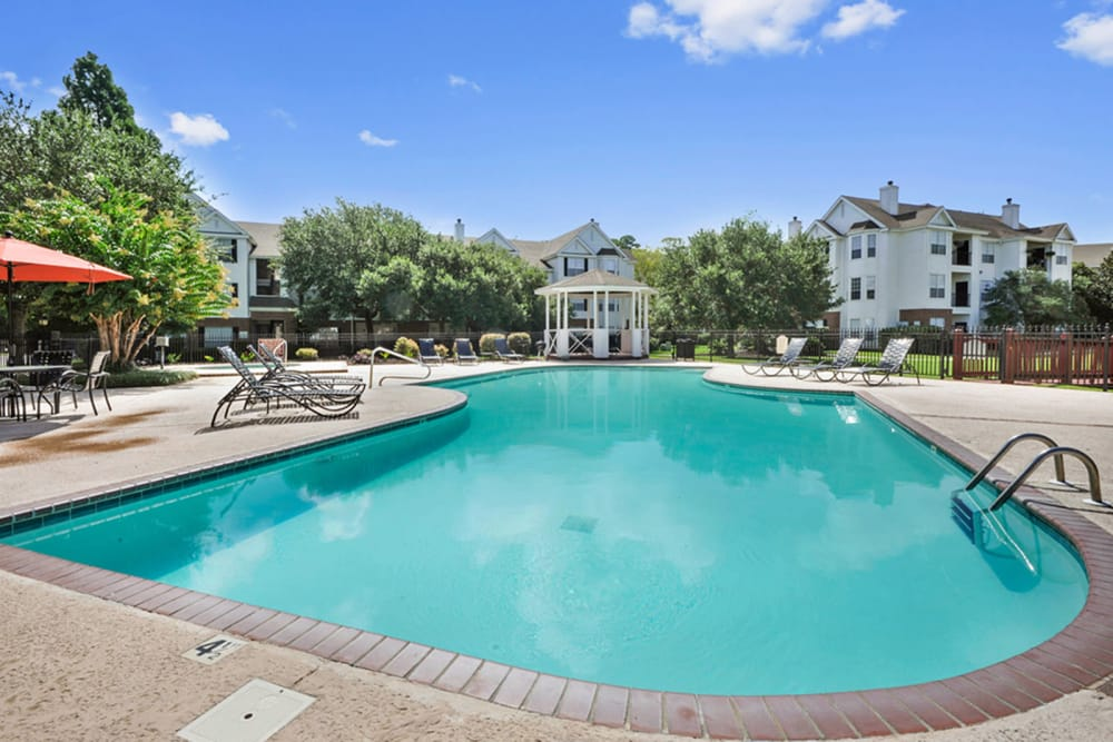 Plantation Apartments offers a swimming pool in Gulfport, Mississippi