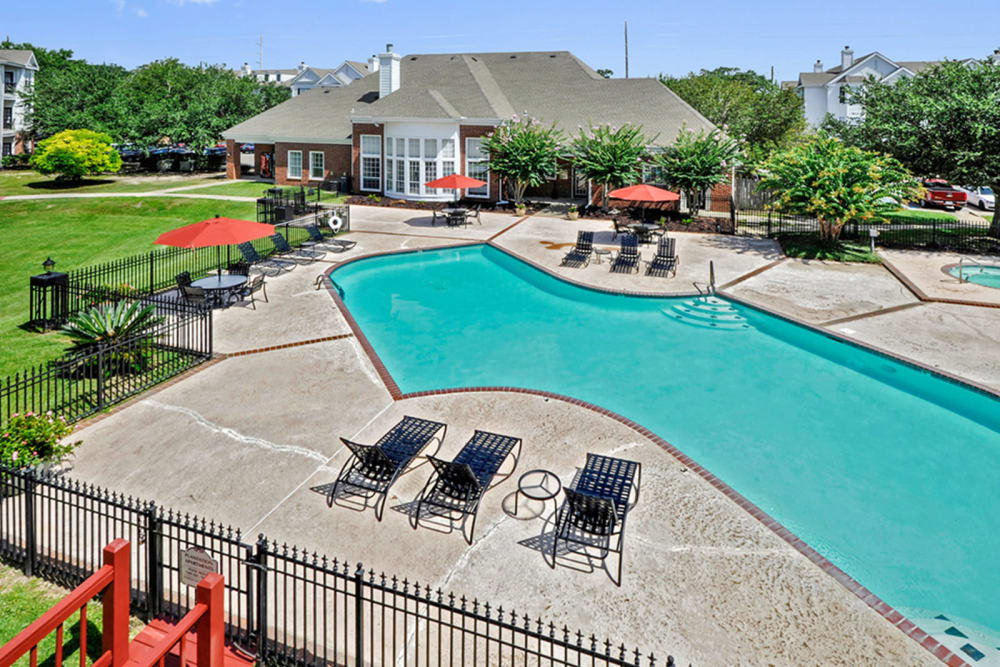 Swimming pool at Plantation Apartments in Gulfport, Mississippi