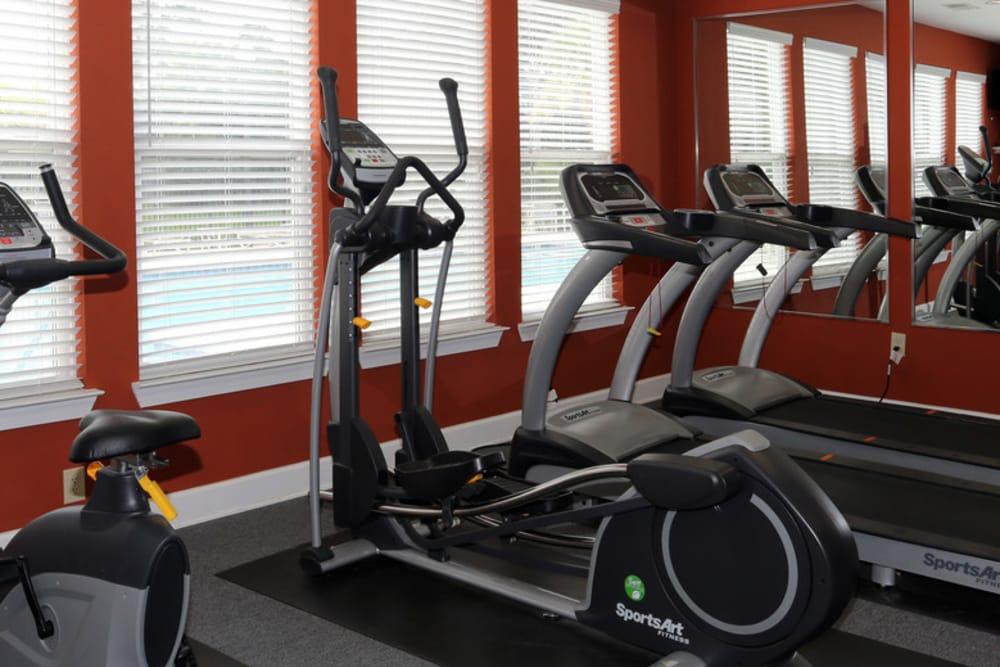Luxury apartments with a fitness center at Woodside in Mobile, Alabama
