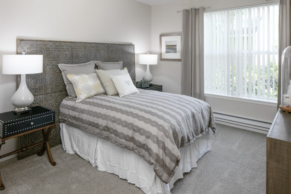 Bedroom at Center Pointe Apartment Homes in Beaverton, Oregon