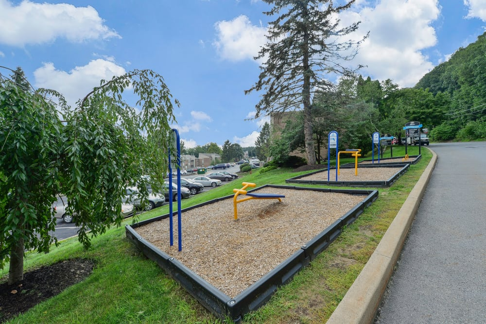 Outdoor Fitness Area at Summit Pointe Apartment Homes in Scranton, Pennsylvania