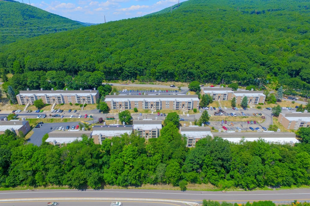 Aerial View of Summit Pointe Apartment Homes in Scranton, Pennsylvania