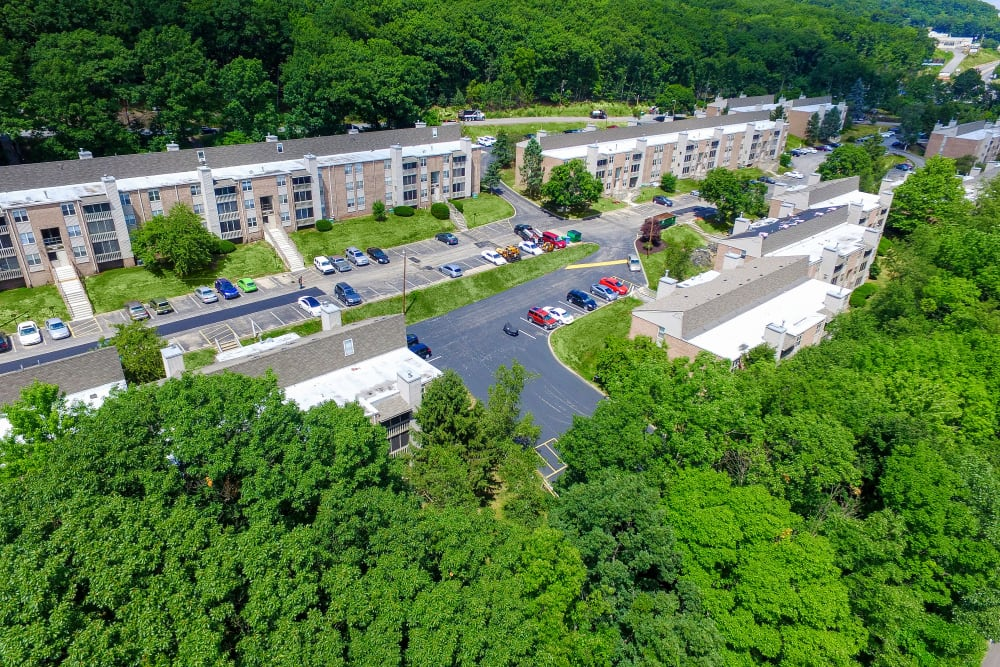 Aerial View of Summit Pointe Apartment Homes in Scranton, PA