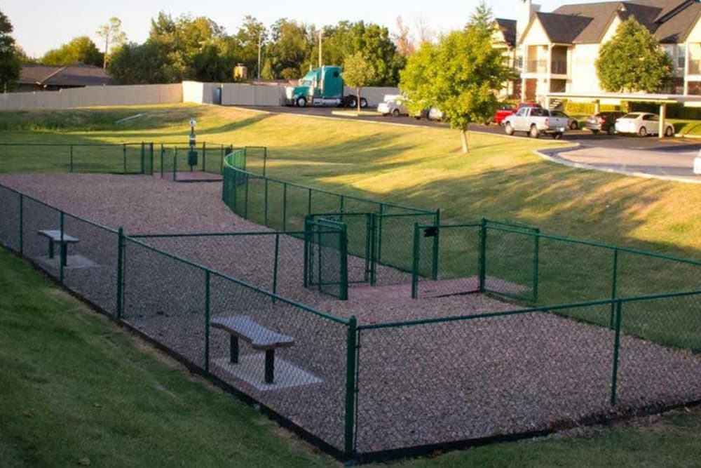 Dog park at Villas at Countryside in Moore, Oklahoma