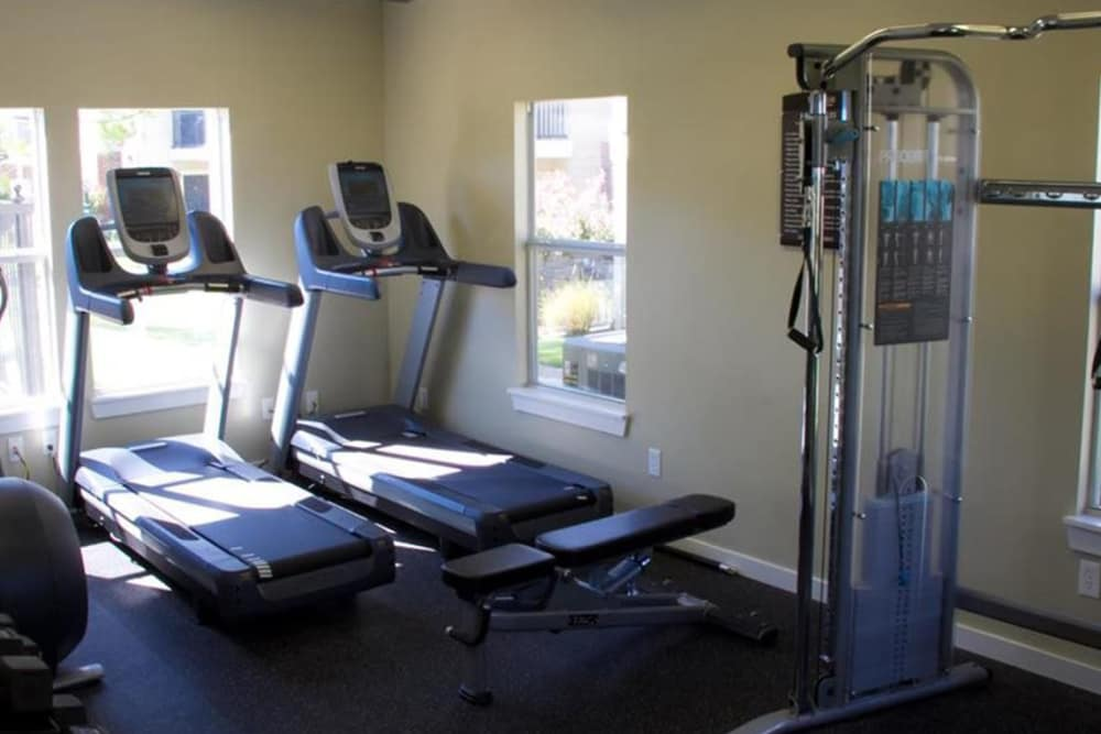 Cardio equipment at Villas at Countryside in Moore, Oklahoma