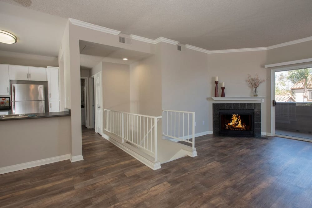 Fireplace at Niguel Summit Condominium Rentals in Laguna Niguel, California
