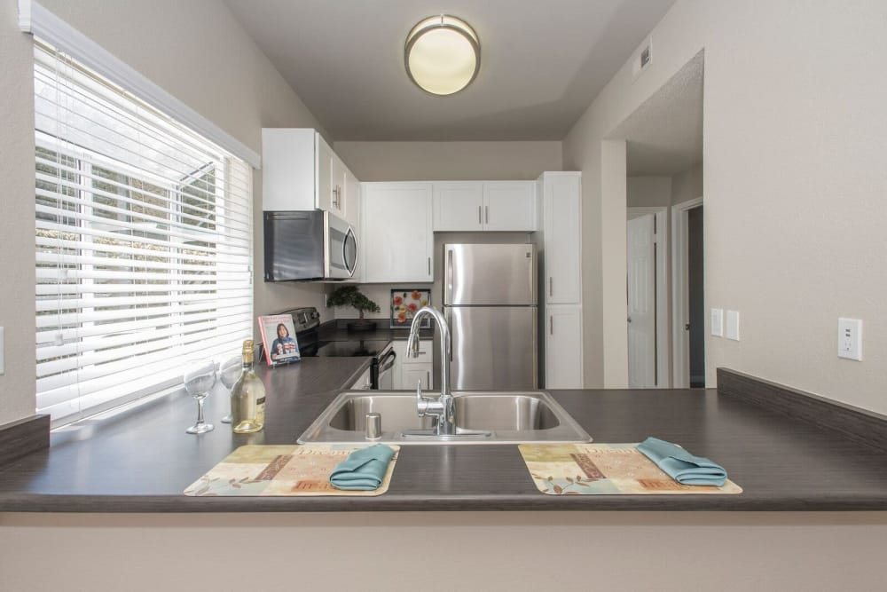 Equipped kitchen at Niguel Summit Condominium Rentals in Laguna Niguel, California