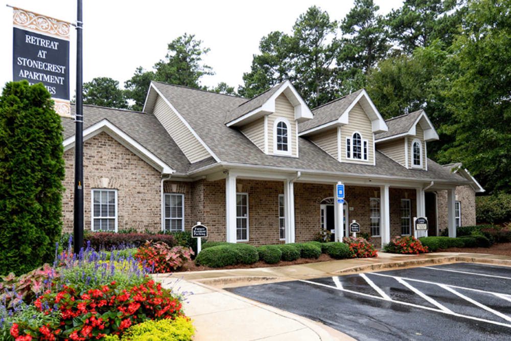 Leasing office at Retreat at Stonecrest in Lithonia, Georgia