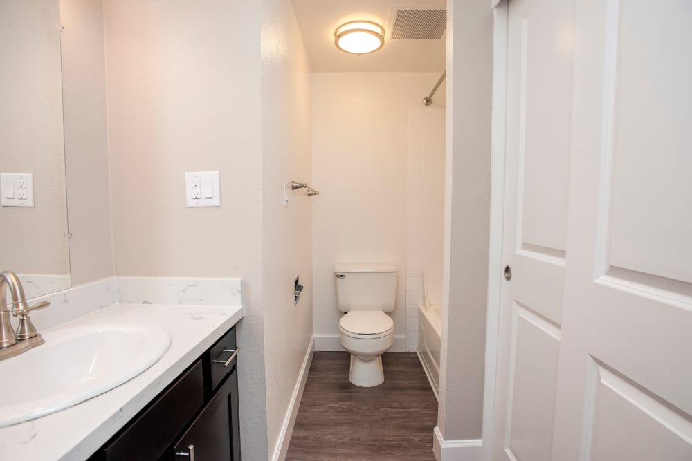 Our unique apartments in San Francisco, California showcase a bathroom