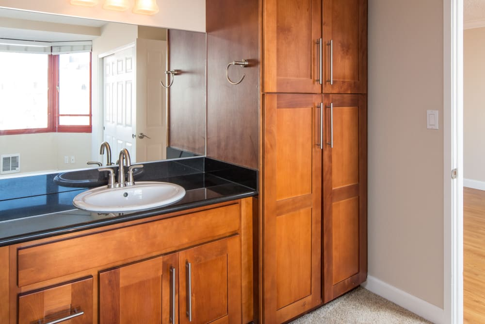 Modern apartments with custom cabinetry at Tower 737 Condominium Rentals in San Francisco, California_state_name}}
