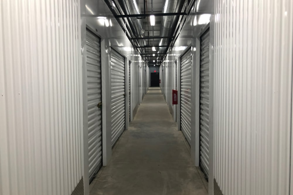 Hallway inside our storage facility on Golden State Storage Cadence in Henderson, Nevada